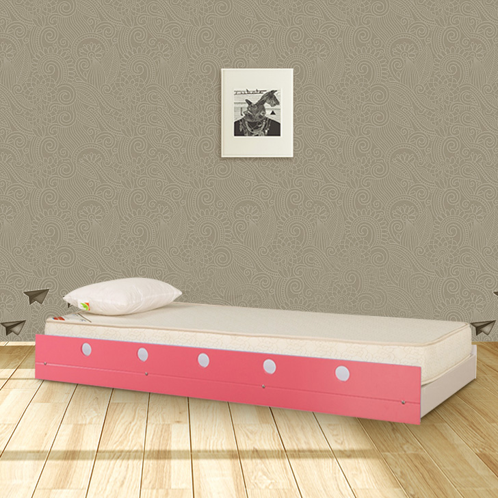 Jerry Engineered Wood Trundle Bed in Pink Colour by HomeTown