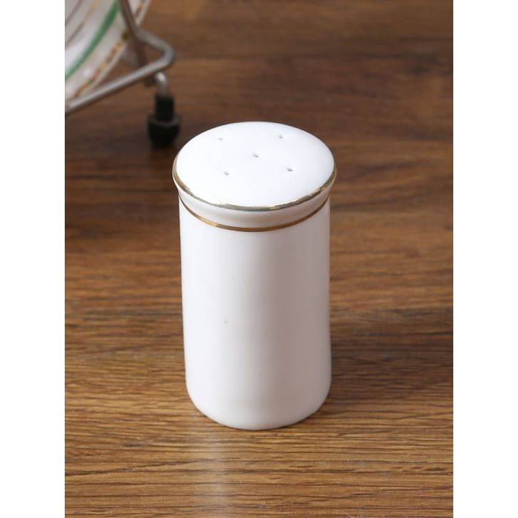 Avril Bone China Pepper Shaker in White Colour by Living Essence