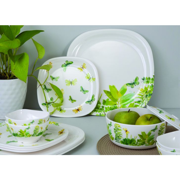Butterfly Breeze Sqare round 14 Pcs Dinner set