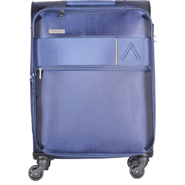 Estate 58 cm Polyester Soft Trolley in Blue Colour by ARISTOCRAT