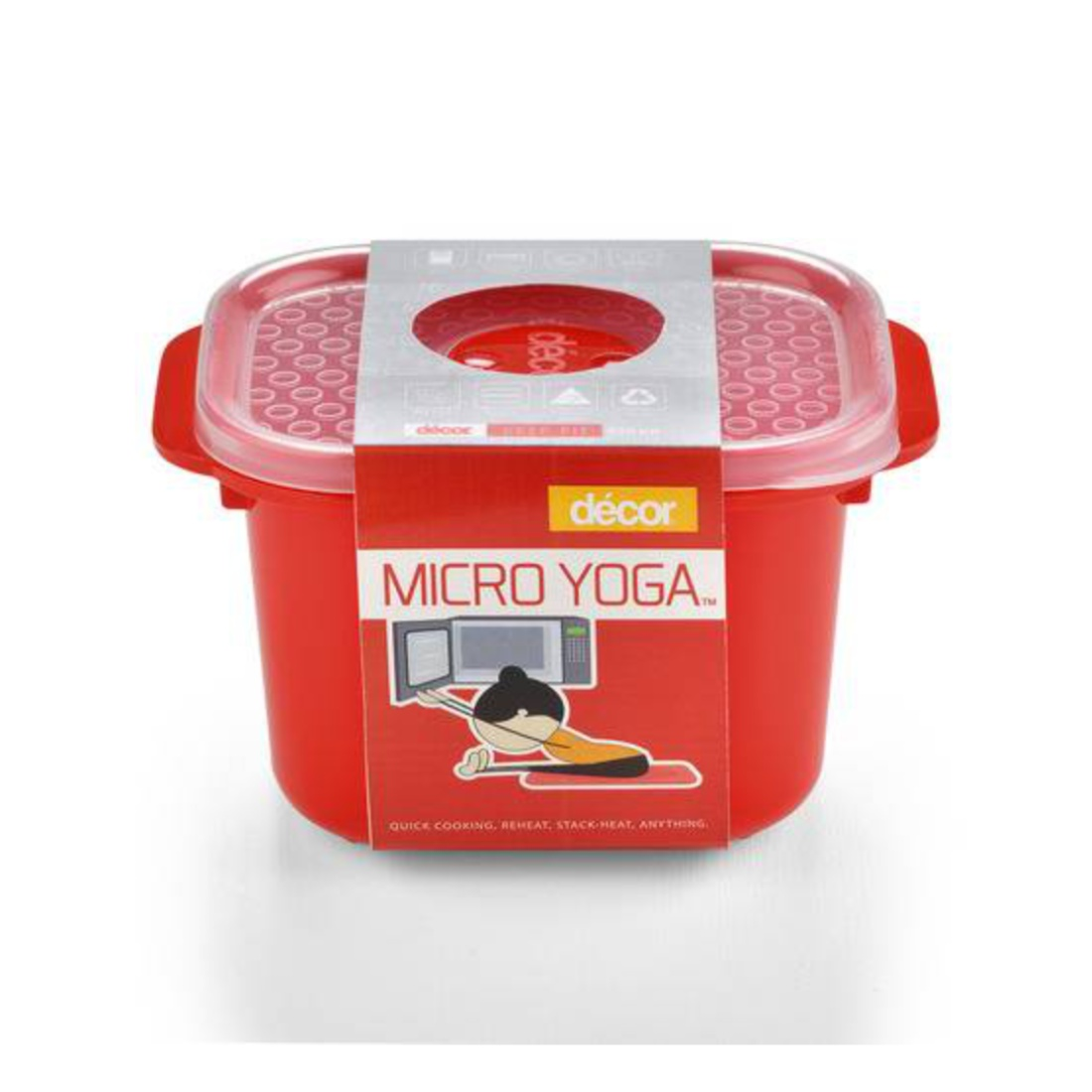 Micro Yoga Oblong 650ML Plastic Containers by Decor
