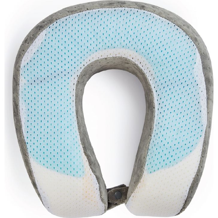 Serenity Memory Foam Gel Neck Pillow 30X30X10 Cms in Grey Colour by Living Essence