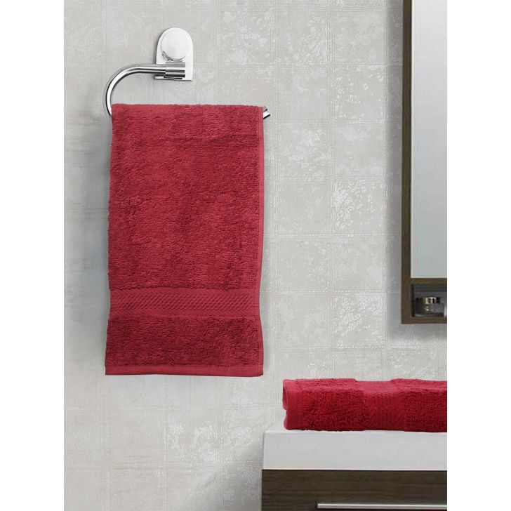 Paradiso Cotton Set Of 2 Hand Towel 40X60 Cm 500 Gsm in Burgundy Colour