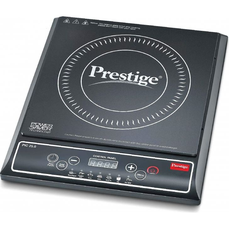 PIC 25 1200 Watts Crystal Induction Cooktop in Black Colour by Prestige