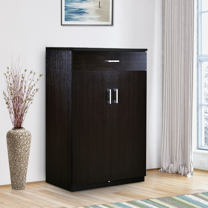 Ibis Engineered Wood Storage Sideboard in Wenge Colour by HomeTown