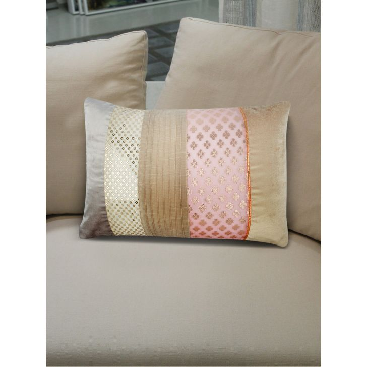 Chic Affair Royal Patch Cushion Covers in Blush Colour by Living Essence