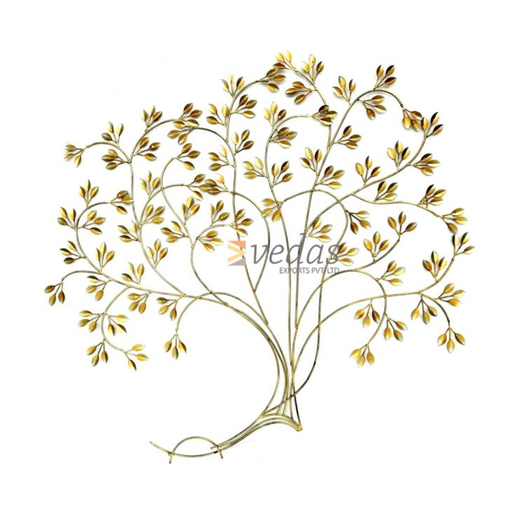 W-DIA WALL TREE Iron Large Wall Accents in Gold Colour by Royce