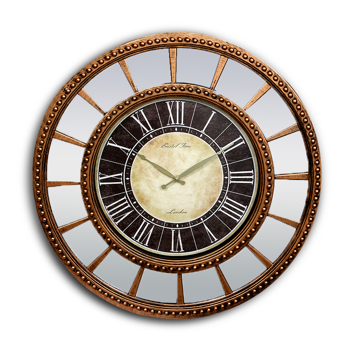 HomeTown Plastic Fiber And Glass Wall Clock Brown