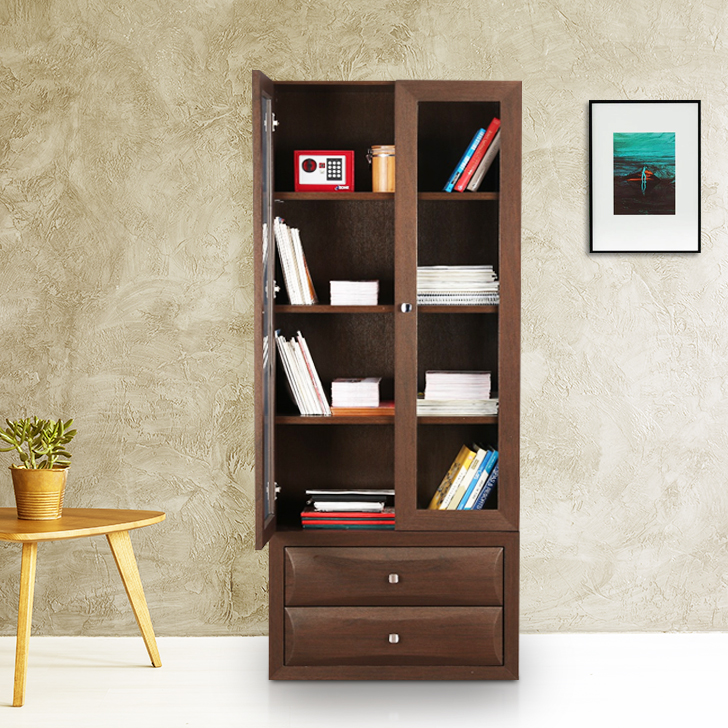 Cambry Engineered Wood Book Shelf in Walnut Colour by HomeTown