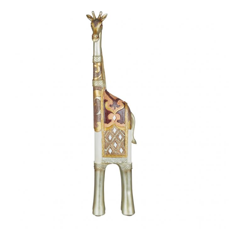 Miraya Giraffe Big Polyresin Table D in Assorted Colour by Living Essence