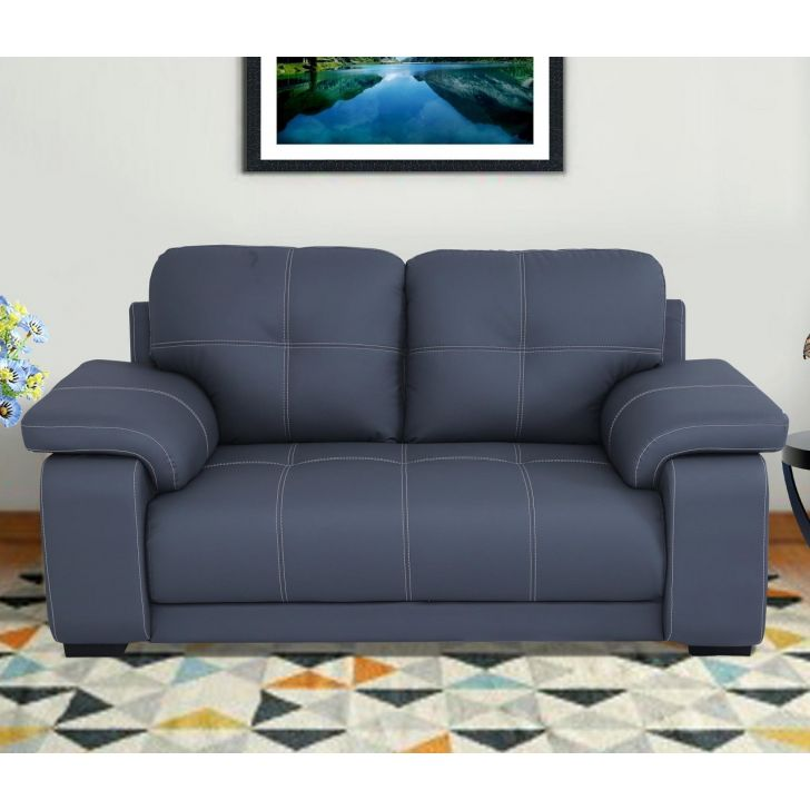 Albury Solid Wood Two Seater Sofa in Grey Colour by HomeTown