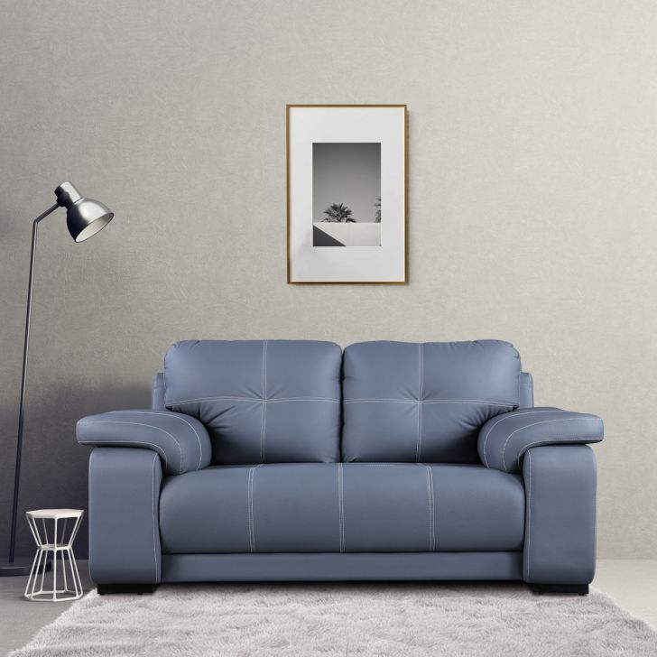 Albury Solid Wood Two Seater Sofa in Grey Colour