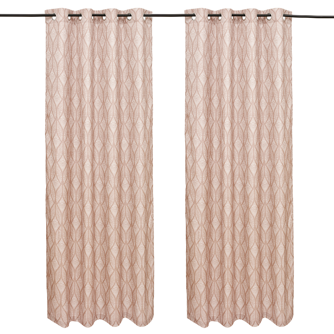 Nora Printed set of 2 Polyester Door Curtains in Beige Colour by Living Essence