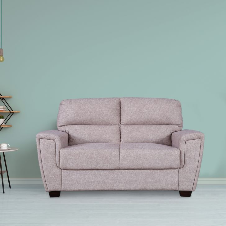 Portland Solid Wood Two Seater Sofa in Beige Colour by HomeTown