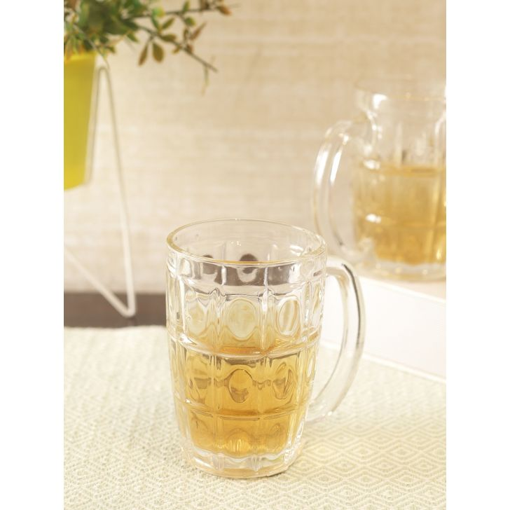 Jazz Glass Beer Tumbler 370ml in Transparent Colour by Living Essence