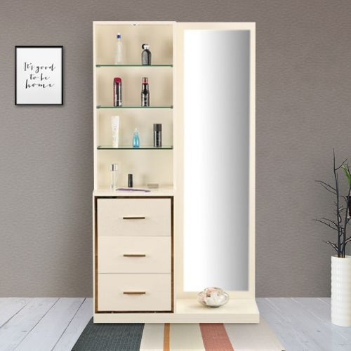 9e4e5c67a Stellar Engineered Wood Dressing Table in Beige   Cream Colour by HomeTown
