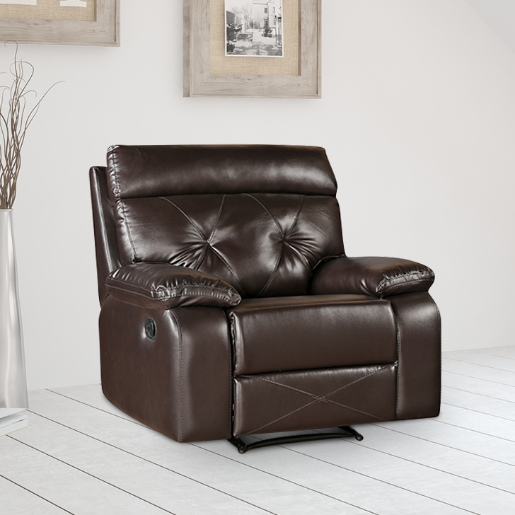 Adrian Single Seater Recliner in Brown Colour by HomeTown