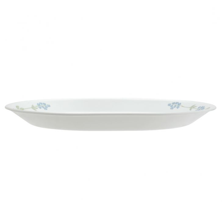 Corelle Secret Garden Serving Platter Vitrelle Platters in White With Multicolour Decal Colour by Corelle