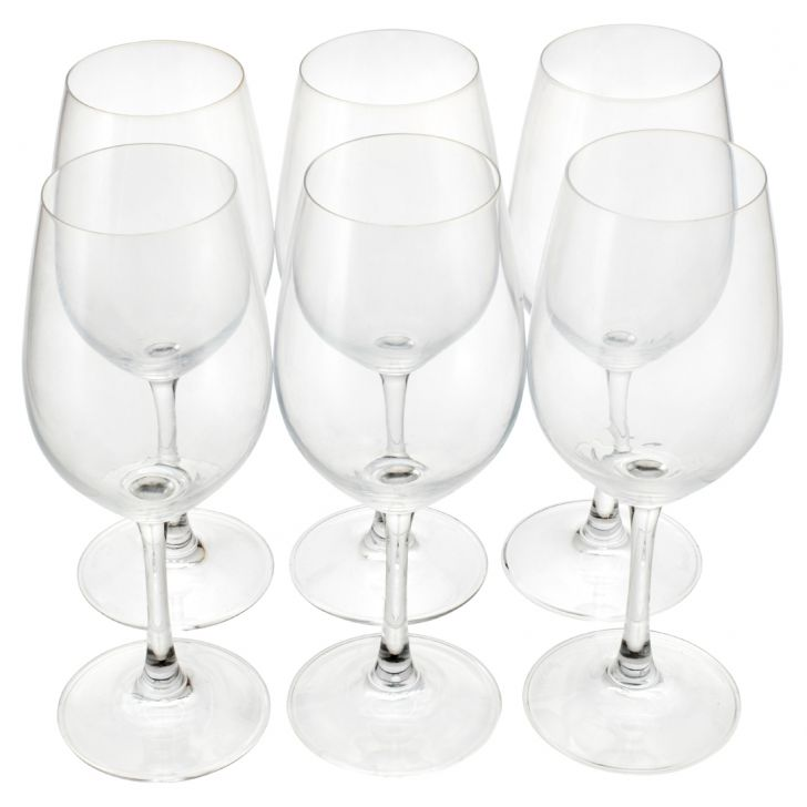 Sp Red Wine Glasses Set Of 6 Glass Glasses & Tumblers in Glass Colour by Living Essence