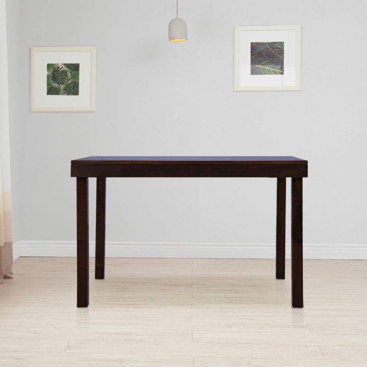 Hopton Solid Wood Four Seater Dining Table in Brown Colour by HomeTown