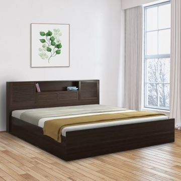sports shoes c773b f85c2 Bolton Engineered Wood Hydraulic Storage King Size Bed in Wenge Colour by  HomeTown