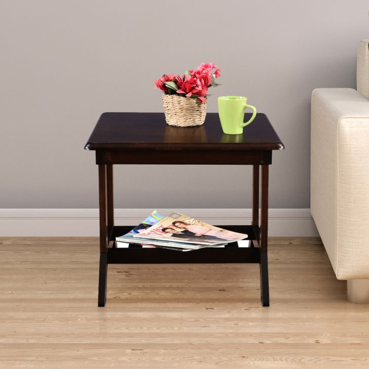 Borris Solid Wood Side Table in Brown Colour by HomeTown