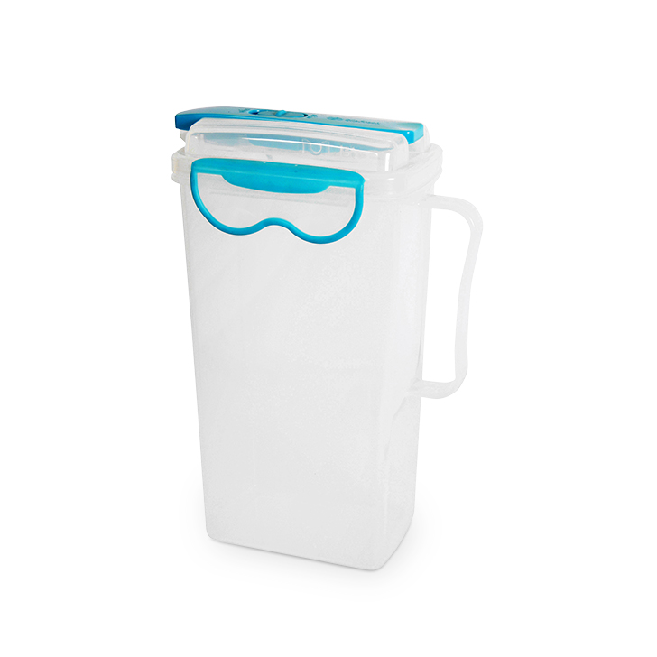 Clip Fresh Polypropylene Water Pitcher 2 Ltr Polypropylene Glass Bottles in Teal Colour by Living Essence