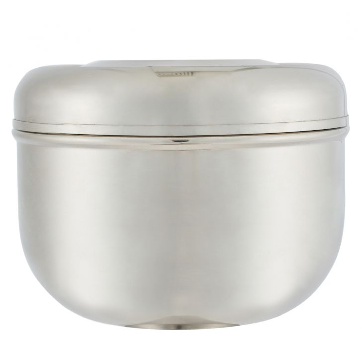 Deep Puri Dabba Stainless steel Containers in Silver Colour by Living Essence