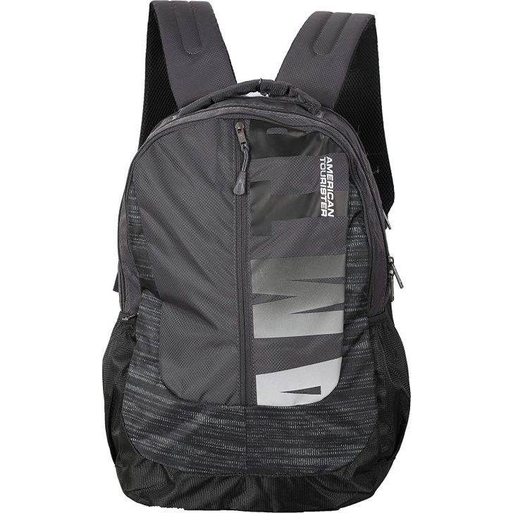 POP NXT Polyester Backpack in Grey Colour by American Tourister