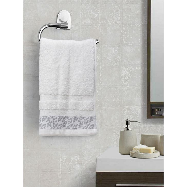 Portico New York Ariana Jacquard : B Hand Towel in Red Color by Portico
