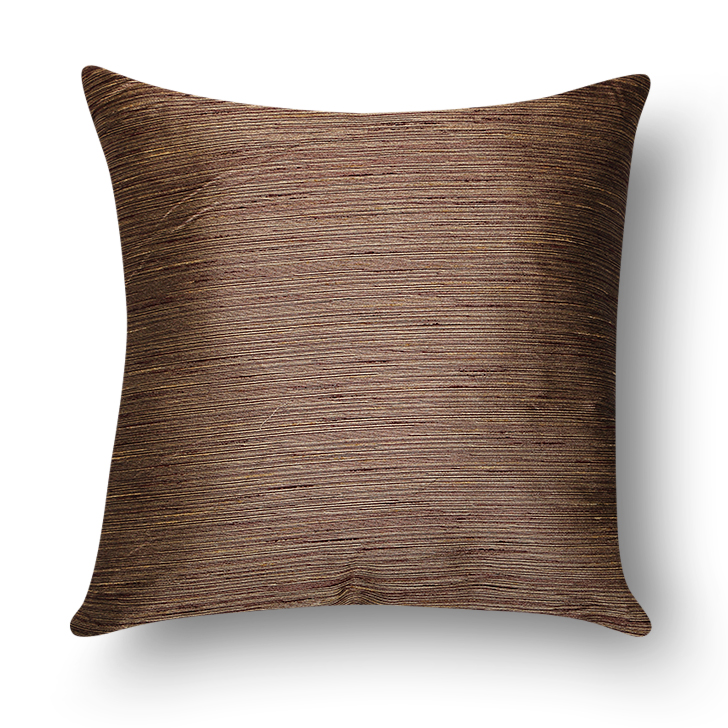 Maya Polyester Cushion Brown And Mustard Polyester Filled Cushions in Brown & Mustard Colour by Living Essence