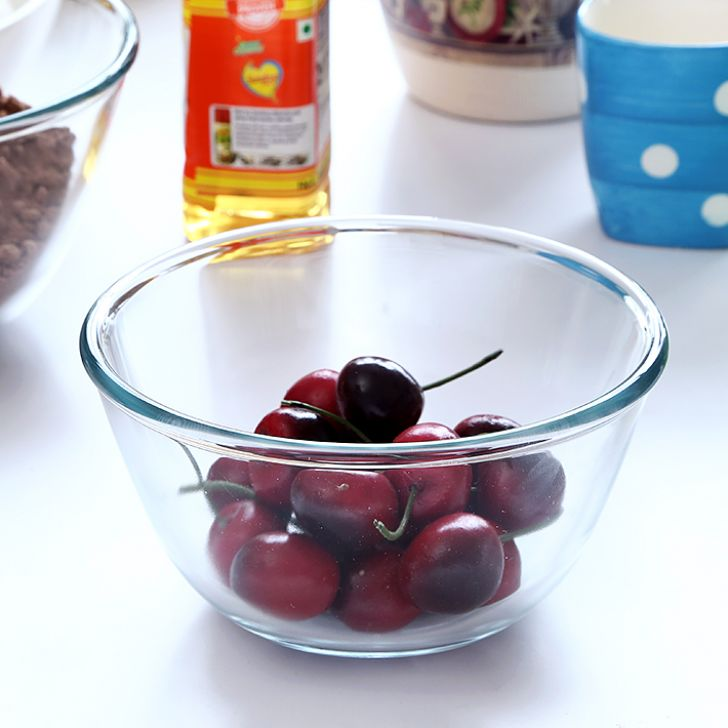 Borosil Mixing Bowl (500 ml) Glass Bakeware Sets in Transparent Colour by Borosil