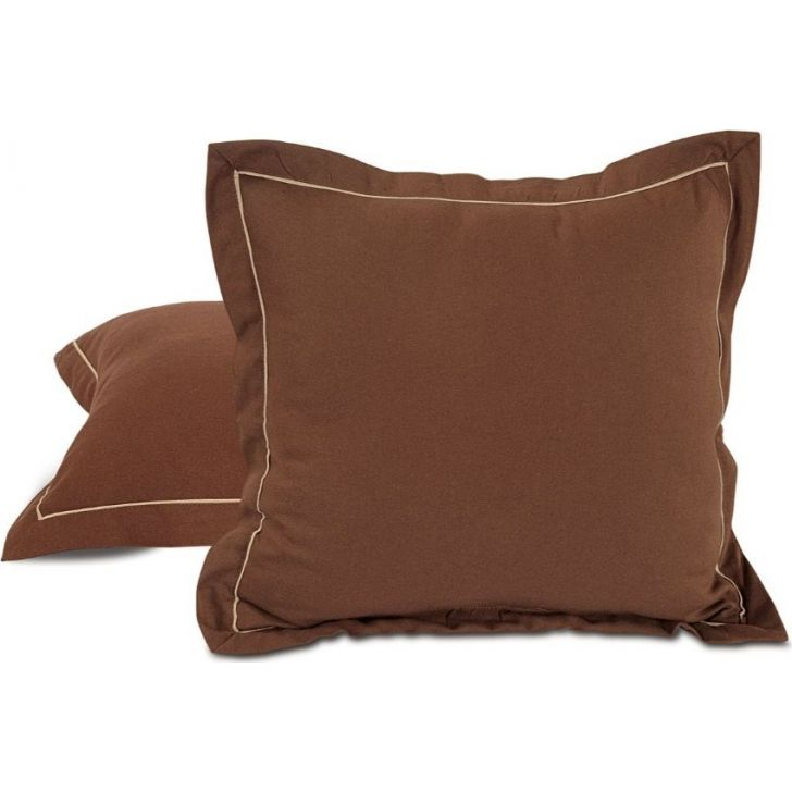 Solid Cushion Cover 12 In Brown Color By Swayam