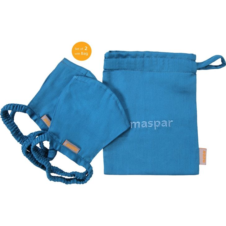 Maspar Cotton Mask in Blue Colour by HomeTown
