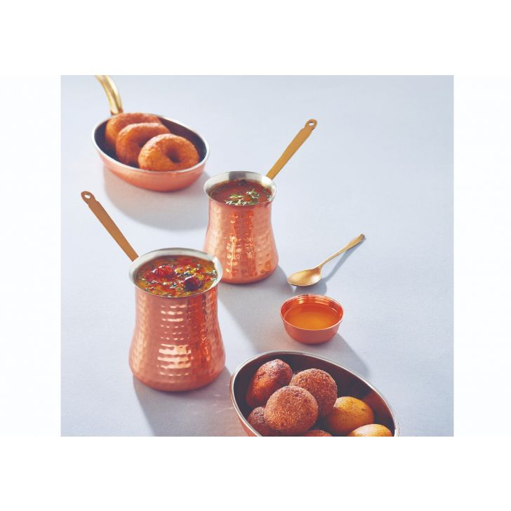 Copper Curry Server Large Stainless steel Serving Sets in Copper Colour by Songbird