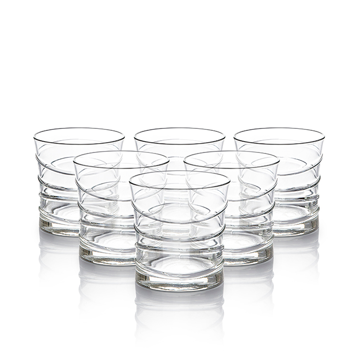 Lyra Ring Dof Glass 320 ml Glass Glasses & Tumblers in Transparent Colour by Living Essence