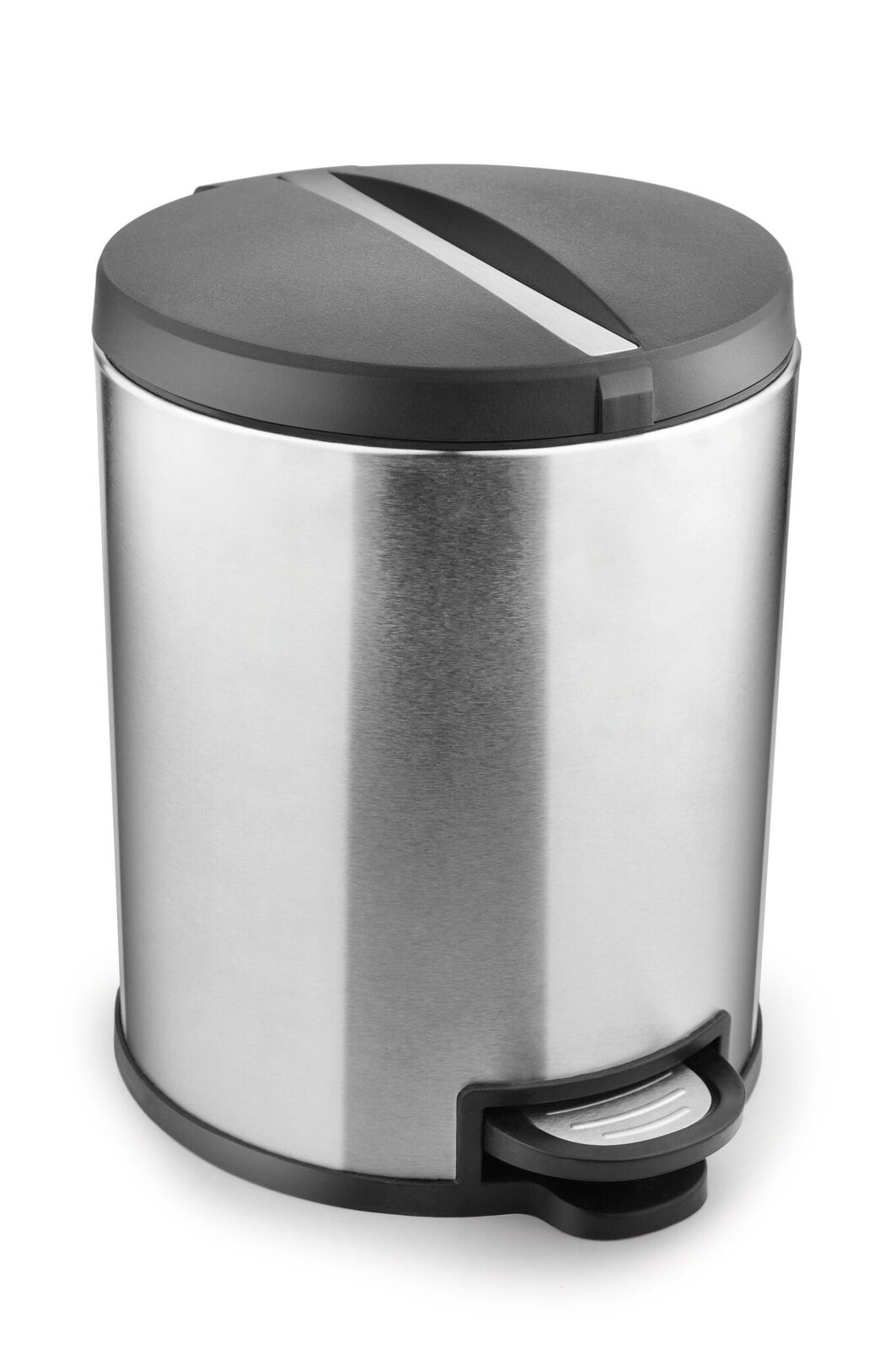 Kleeny Dustibin-5 Ltr Plastic and Stainless Steel Dustbins in Silver Colour by Bonita