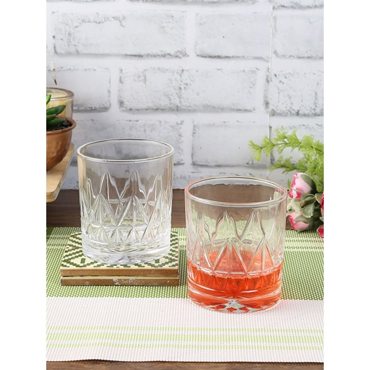 Living Essence Glass Granish Whisky Tumblers Set Of 6 in Transparent Colour by Living Essence