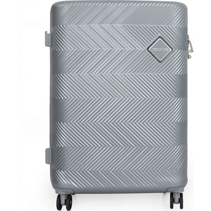 American Tourister Bayview Hard Trolley  56 cm  (Silver)