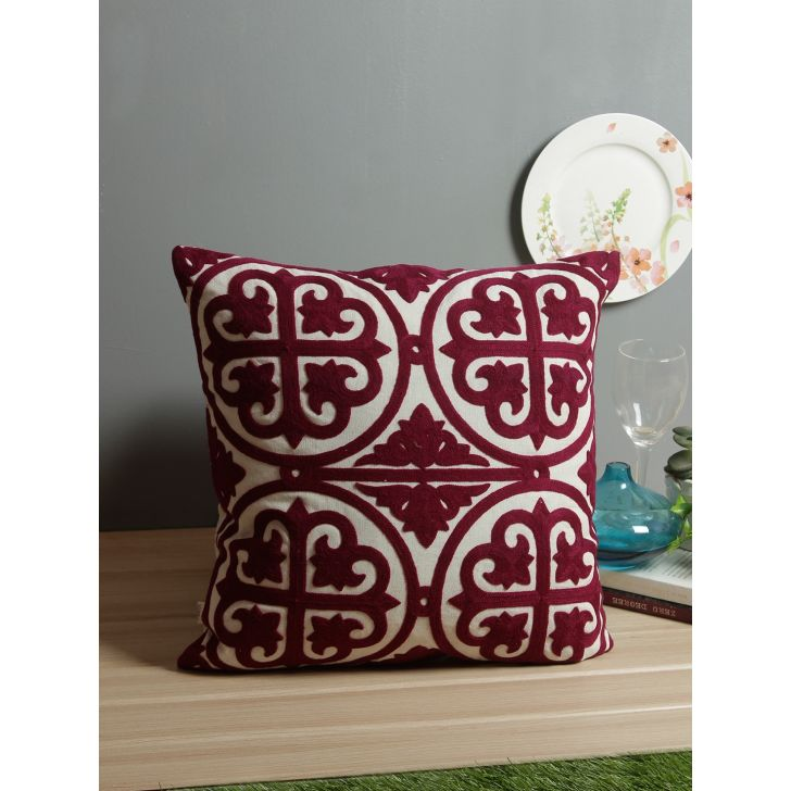 Celtic Cotton Cushion Covers in Berry Colour by Living Essence