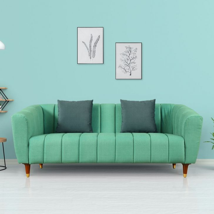 Morocco Three Seater Sofa in Teal Colour by HomeTown