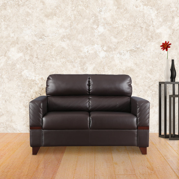 Benedict Two Seater sofa in Brown Colour by HomeTown