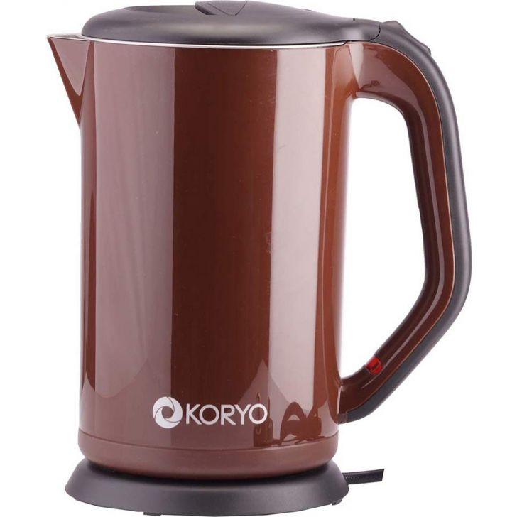 Electric Kettle (1800W) - 1.7 Litres - Brown by Koryo