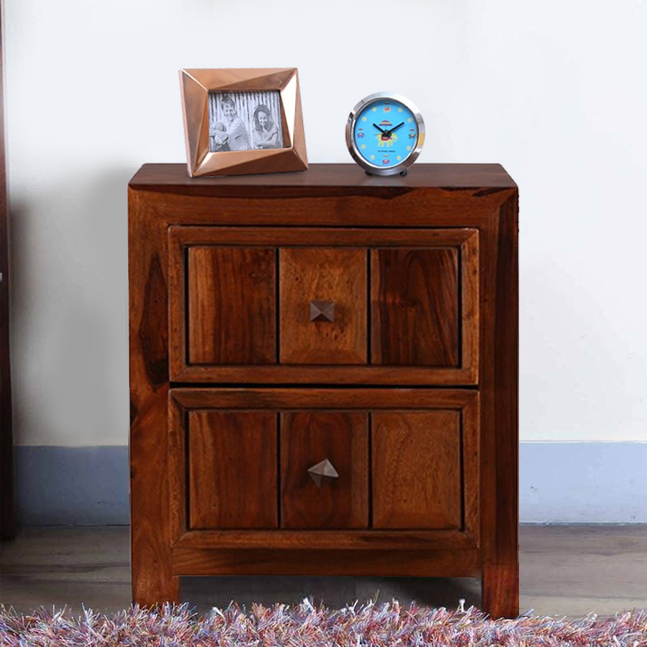Woodrow Solid Wood Bedside Table in Honey Colour by HomeTown