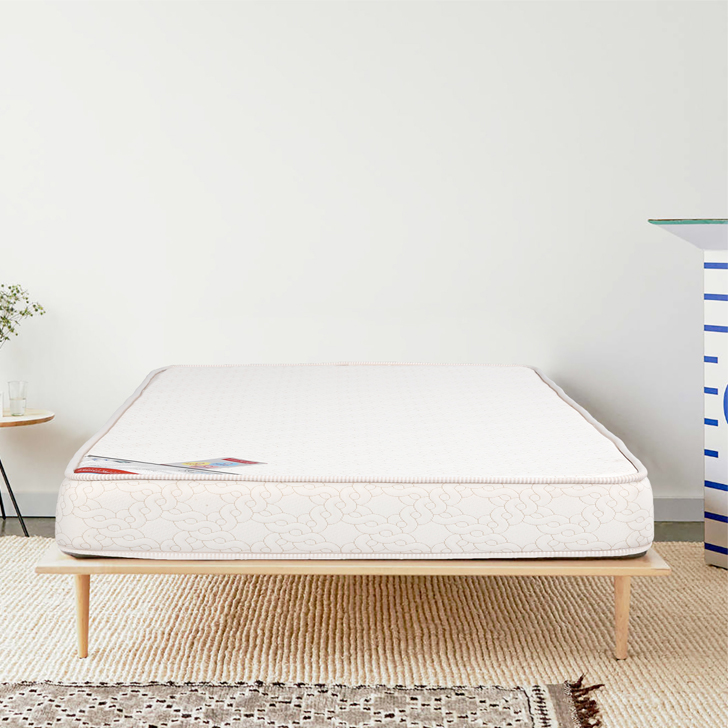 Mattress Comfort Plus Bonnell Spring Single Bed (75*36*6) in Cream Colour by HomeTown