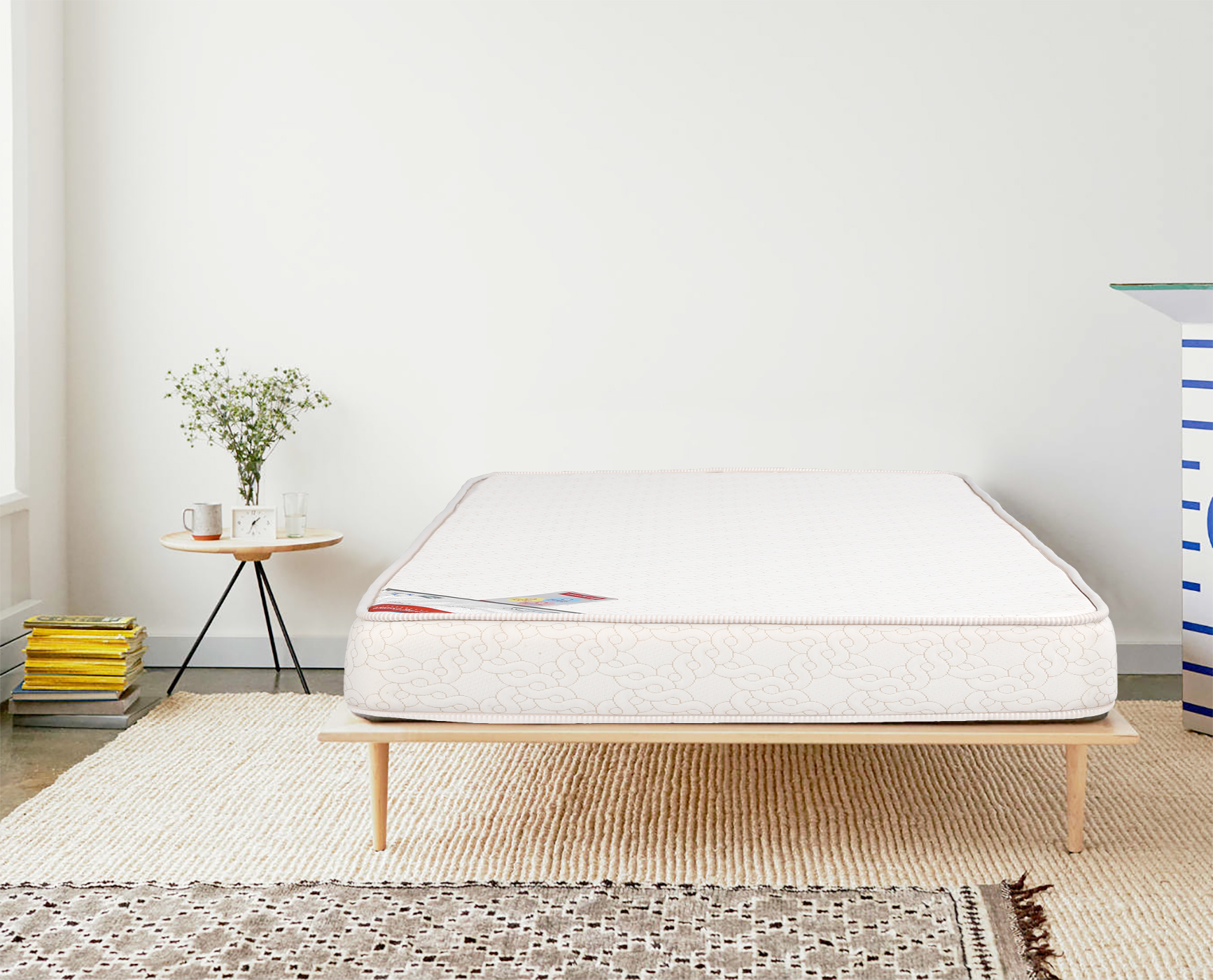 Comfort Plus Fabric Single Bed Mattress in Cream Colour by HomeTown