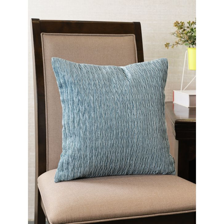 Silk Route  Cushion Cover 16X16 CM in Teal Colour by Living Essence
