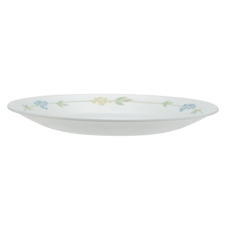 Corelle Secret Garden Small Plate Vitrelle Plates in White With Multicolour Decal Colour by Corelle