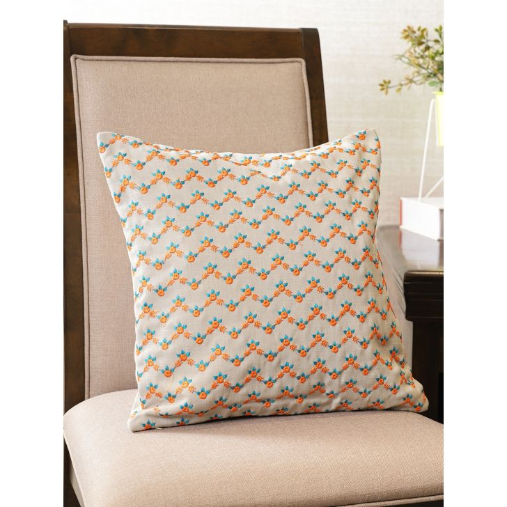 Houzzcode Circular Motion Polyester Cushion Cover 40 x 40cm in Multicolor Colour