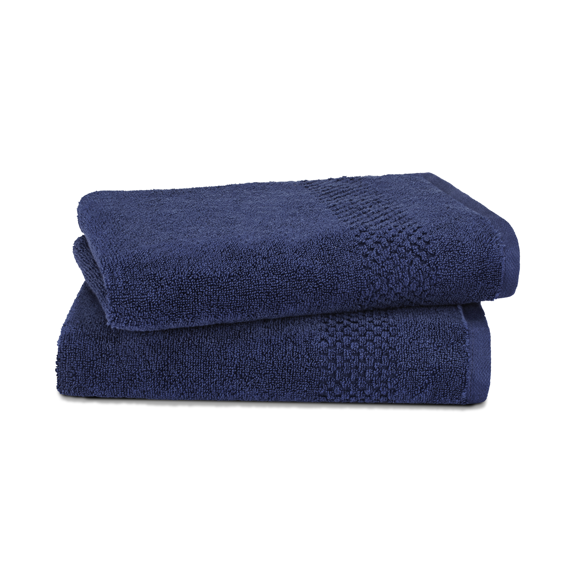 Spaces Atrium Cotton Double Bed Sheets in Navy Blue Colour by Spaces